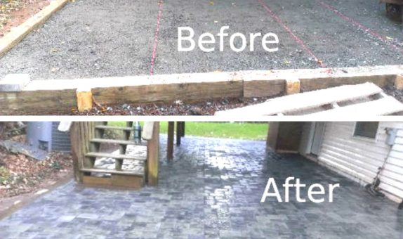 before and after masonry