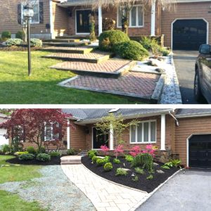 before and after mach masonry and landscaping